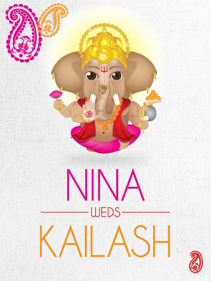 Ganeshji - this is the wedding card that was designed for my own wedding. My wife and I wanted something that was different but still held true to our culture.