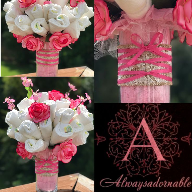 Custom diaper bouquets by alwaysadornable