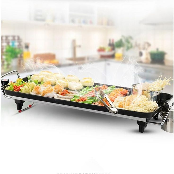 (102.00$)  Know more - http://aio40.worlditems.win/all/product.php?id=32795663014 - 220V Non-stick Electric Barbecue Grill Machine Electric Smokeless Frying Pan Teppanyaki Griddle Machine For Outdoor Indoor Party