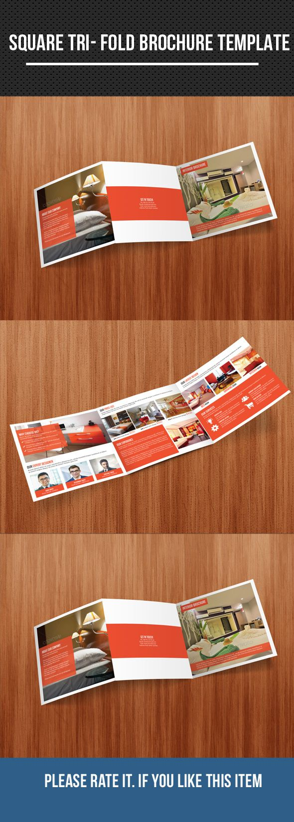 Square Tri Fold Interior Brochure on Behance