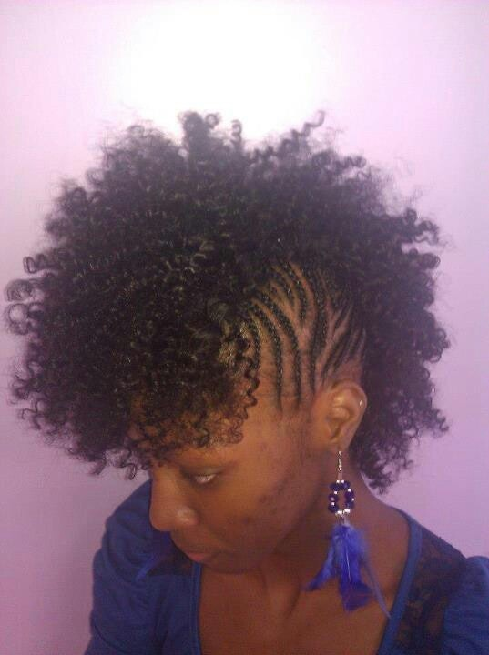 Mohawk Sew In Natural Hair Styles Elliptical Pinterest