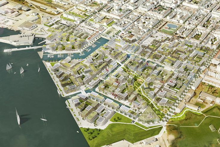 Visuals - FredericiaC - Projects - KCAP  canal has been expanded