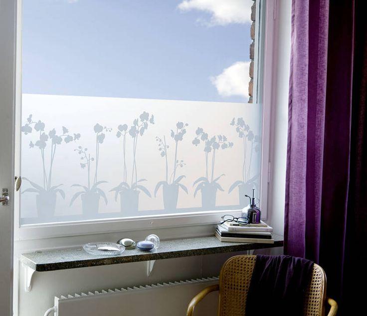 Orchids in Pots (De BY MAY/ Siluett Frost Window Film)