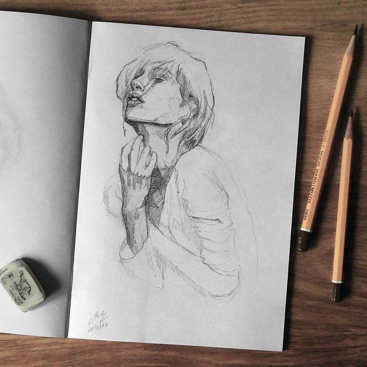 "Páči sa mi to: 3,243, komentáre: 15 – Miroslav Zgabaj (@miro_z_art) na Instagrame: ""Sketchbook  #face #portrait #sketch #sketchbook #paper #pencils #pencil #draw #drawing #art…"""