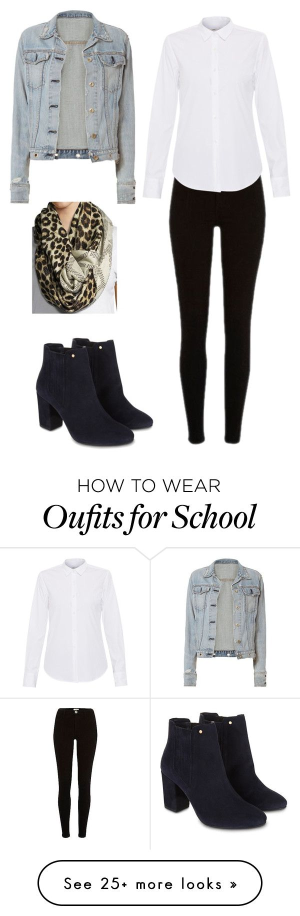 """""""School outfit"""" by adriacowell22 on Polyvore featuring rag & bone, Lareida, MICHAEL Michael Kors and Monsoon"""
