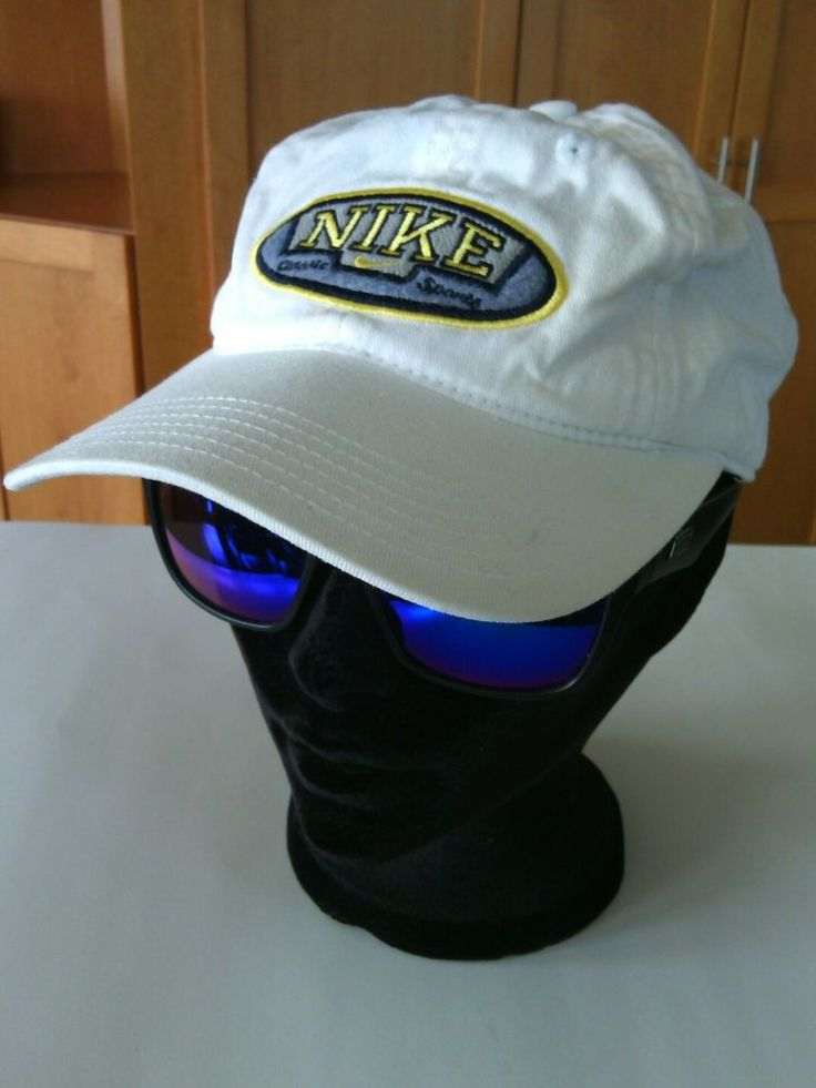 Vintage Nike Classic Sports Baseball Cap White Yellow Hat Size 7 Embroidered Fit | eBay