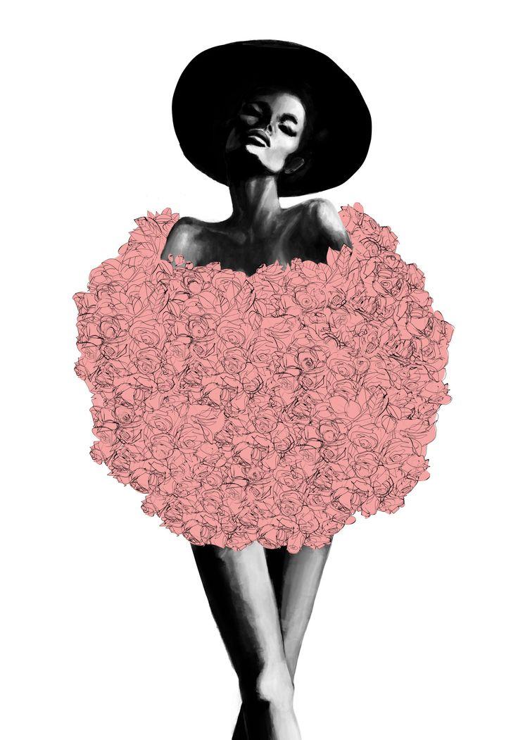 Pink Fur av Peytil - Posters för dina väggar från Gallerix®