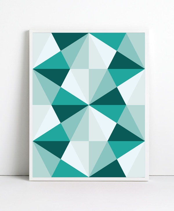 Abstract Posters. $19.99, via Etsy.