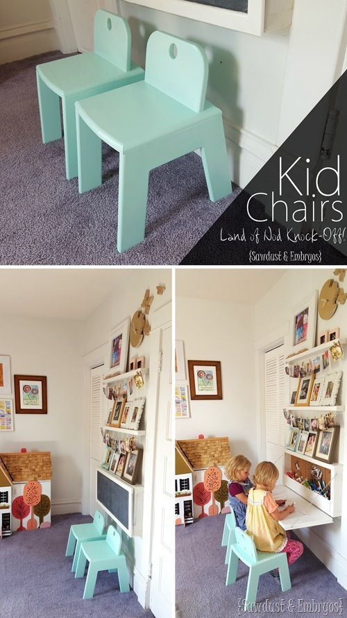 Tutorial DIY how to build these SUPER sturdy and adorable Mod Kid's Chairs... a Land of Nod Knock-off!
