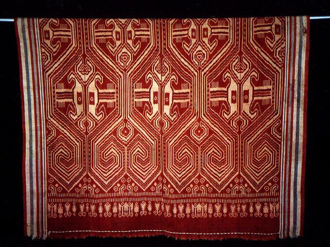Borneo Pua Early 20thC. Turtle motif on Indokain