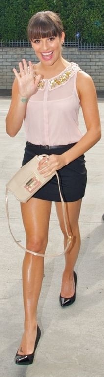 Lea Michele in my graduation dress lol