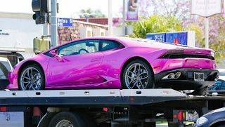 Blac Chyna Pink Car  If you watched the premier episode of Rob and Chynayou most likely noticed Blac Chyna's 2016 Huracán Lamborghini. The vehicle has a beautiful metallic purple paint job that makes it look pink in the right light. Rob Kardashian purchased the vehicle for Blac Chyna whose real name is Angela Renée White in April 2016 for $200000.  Lamborghini introduced the Huracán in 2014 as a replacement to the Gallardo. The Huracán name was inspired by a Spanish fighting bull. If you saw…