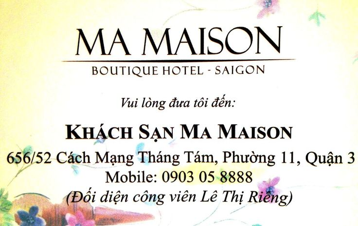 Ma Maison in Saigon
