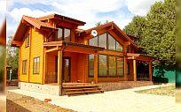 Проект деревянного дома из клееного бруса Александровка Рожновка, площадь 233 м2, 2 этажа, 4 спальни, фото 1