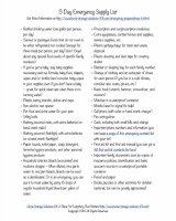 free printable emergency supply list