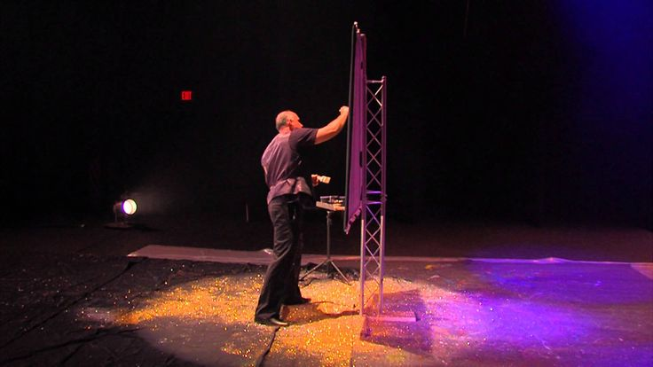 America's Got Talent Speed Painter Robert Channing Paints Howie Mandel