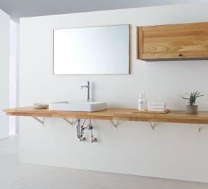 無垢の木の洗面台(オープンタイプ)   洗面化粧台   WOODONE