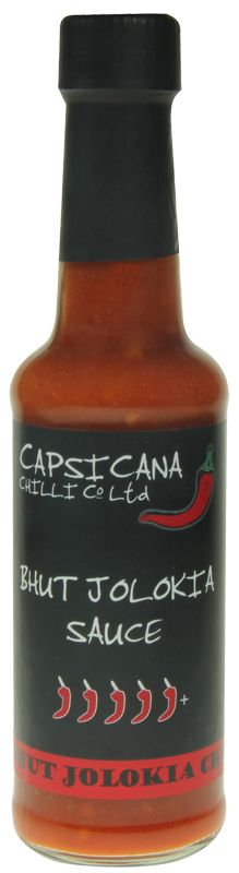 BHUT JOLOKIA SAUCE - We make our Bhut Jolokia Sauce using a special blend of chillies and 2% Bhut Jolokia giving it a delicious complex flavour with a hint of dried tropical fruit and a powerful enduring heat. Our Bhut Jolokia Sauce is 100% handmade in small batches and contains no chilli extract - just delicious chilli flavour. Use as a flavoursome table condiment, cooking ingredient, seasoning & marinade for meat, fish & vegetables