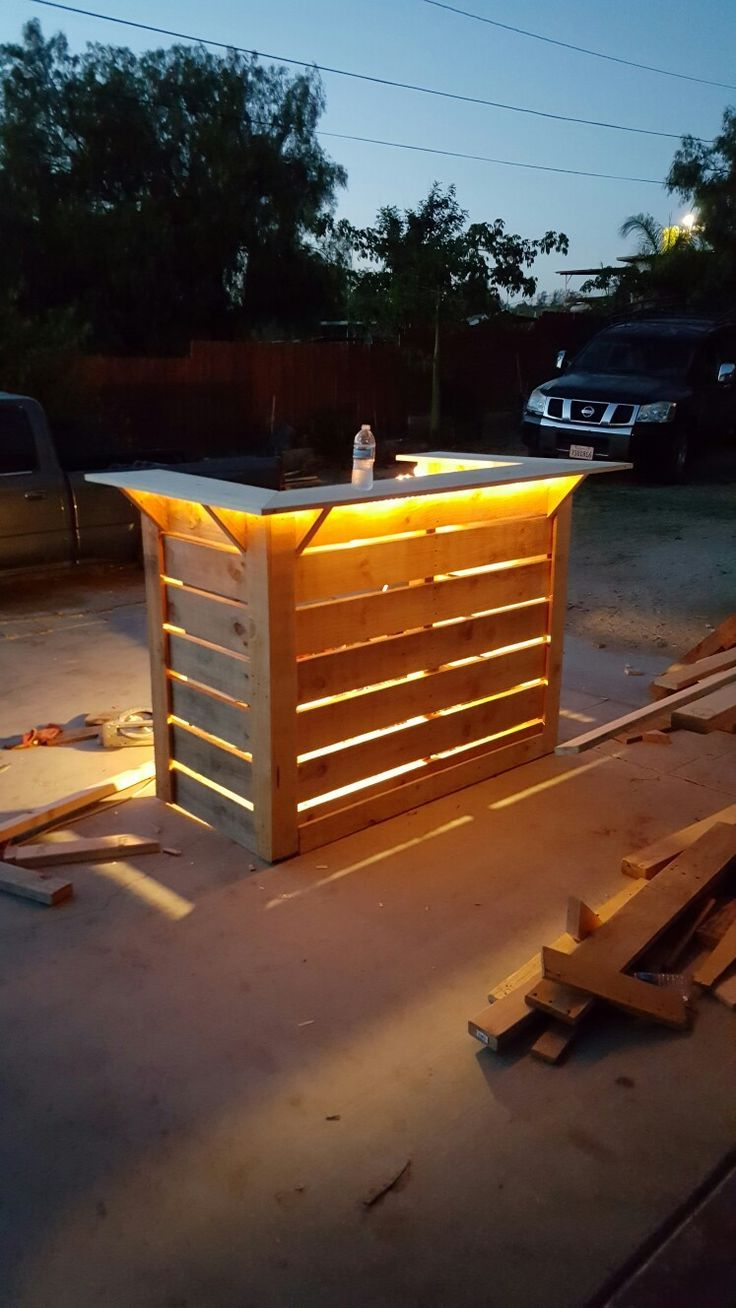 Recycled Pallet Bar Outdoor Living Bar E
