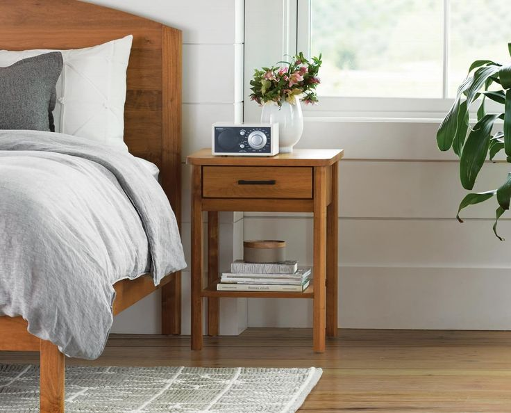 Classic Nordic Style Storage Nightstand By Dania Furniture. Offering An  Open Style, The