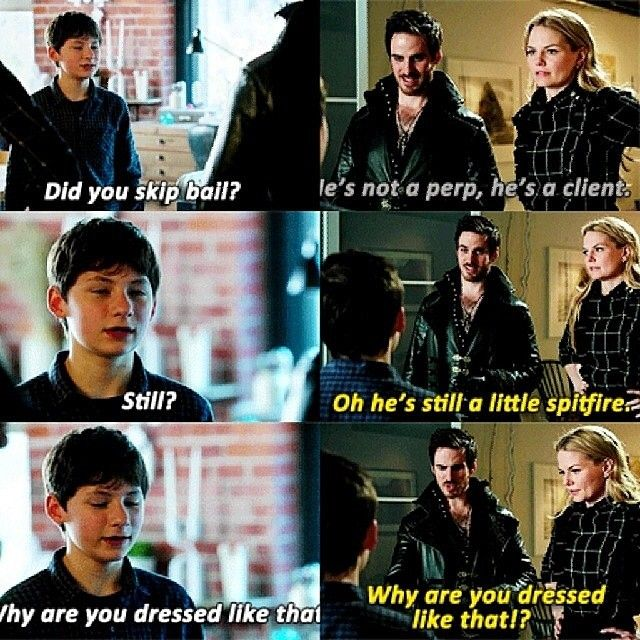 "The way Hook is offended ""THIS IS CALLED STYLE BOY. THE FANGIRLS LOVE IT.HOW MANY DO YOU HAVE?"""