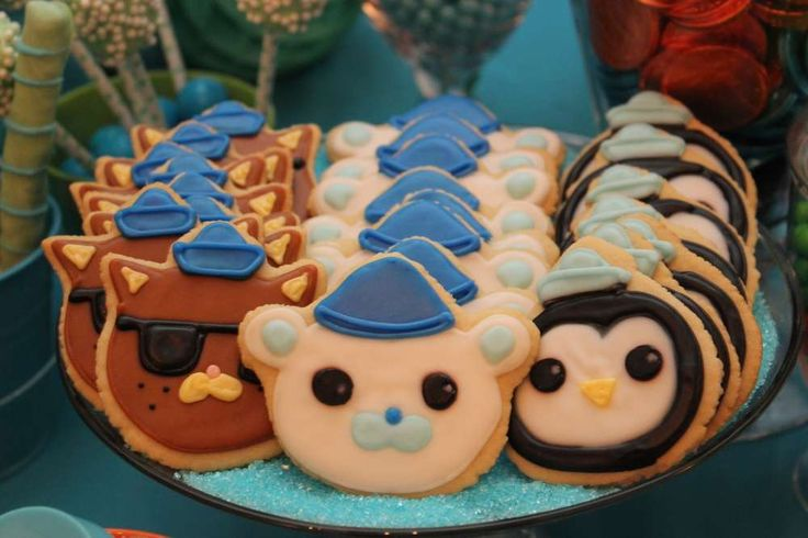 Cute cookies at an Octonauts birthday party! See more party planning ideas at CatchMyParty.com!
