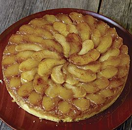 Apple Upside-Down cake- I (Bonnie) have actually made this before and it's mega yummy. Another easy way to make it is use a yummy box vanilla cake and add some cinnamon and lemon zest. Follow directions on recipe for apples. Yum