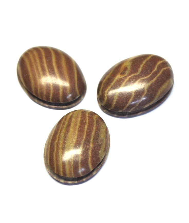 Zebra Jasper Grooved Oval Cabochons, Natural Gemstones, Macrame Supply, Deep Groove - 3 pcs - 25.0 x 18.0 mm - 67.7 ct - 161113-04 by AliveGems on Etsy
