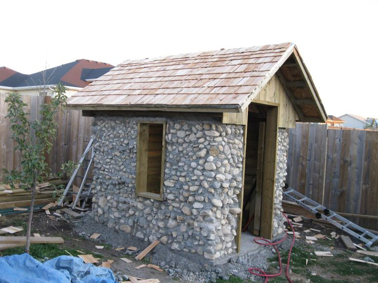 Best 25 building stone ideas on pinterest stone for for Stone garden shed designs