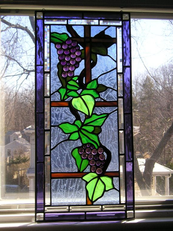 Stained Glass ArtGlass Window por CreativeSpiritGlass en Etsy