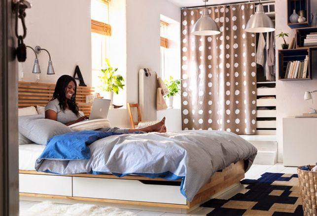 20 de modele de paturi Ikea pentru un dormitor confortabil- Inspiratie in amenajarea casei - www.povesteacasei.ro