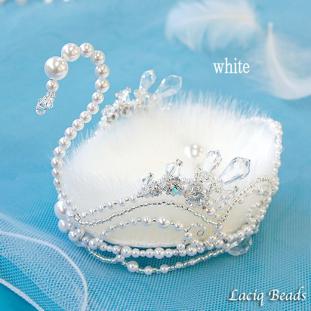Кристалл лебедя кольцо подушка