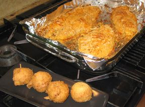 Easy Oven Baked Catfish and Hush Puppies Recipe