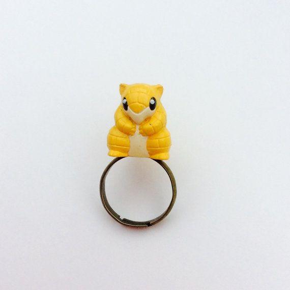 Cute Sandshrew Pokemon Ring - By Rainbowcastle.