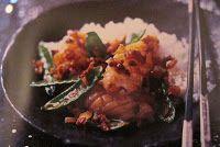 Calamars frits et mange-tout