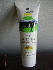 Spot Removing and Whitening Milk Cleanser by Lyolan. $8.99