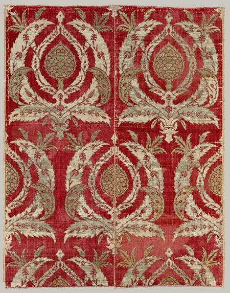 Pieced panel of brocaded silk [Probably Bursa, Turkey] (17.29.10) | Heilbrunn Timeline of Art History | The Metropolitan Museum of Art