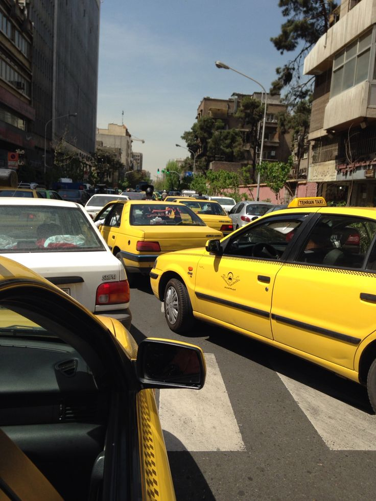 Road of Tehran is traffic congestion every day.
