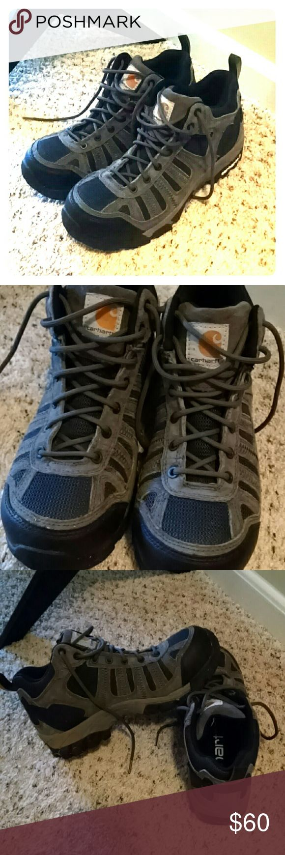 Carhartt Work Boots Composite toe work boots with ankle support, from a trusted brand. Worn only a couple times. Soles a little dirty but otherwise, like new! In excellent condition and I've already lowered price considerably so not taking any lower!! Carhartt Shoes Lace Up Boots