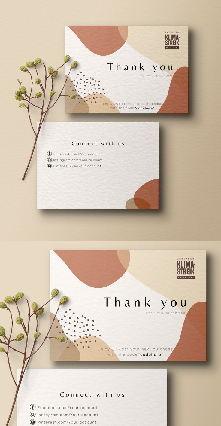 Thank You For Your Order Cards Business Stationery Business Etsy In 2021 Graphic Design Business Card Thank You Card Design Name Card Design