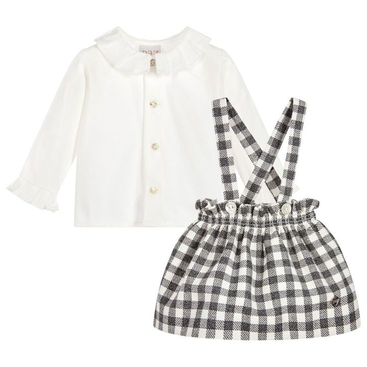 https://www.childrensalon.com/checkout/cart/#a_aid=51f456f914eb5 This beautifully made, traditional skirt set from Paz Rodriguez, will be perfect for those 'show-off' days. The button-up, ivory cotton blouse is so soft against the skin and the skirt has removable braces for an extra cute look. Spot-on for a day out with the grown-ups.