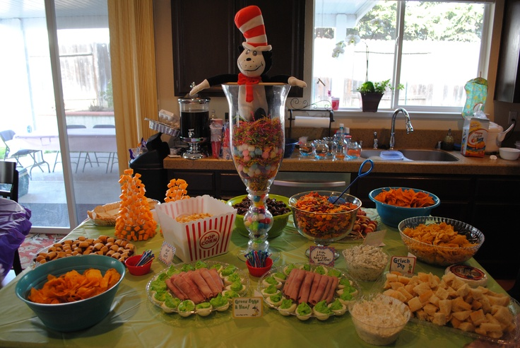 dr seuss appetizer table baby shower ideas pinterest appetizers