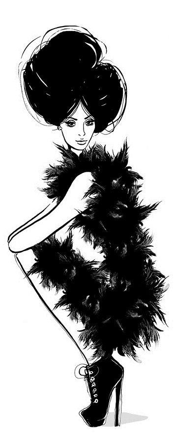 Megan Hess  Esto empezando a estudiar la anatomía de la mujer, pues empezaré a dibujarlas y estoy inspirándome en ilustración de editorial y de moda.