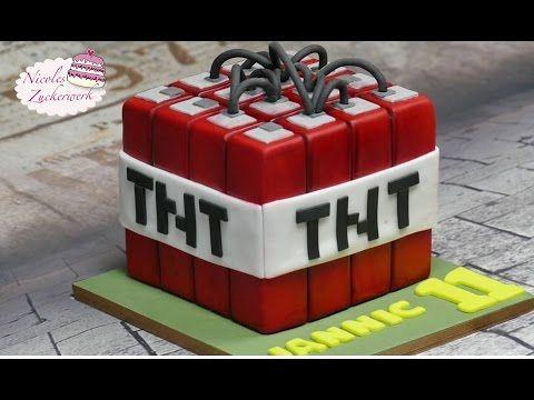 minecraft tnt fondant torte motivtorte minecraft cake von nicoles zuckerwerk youtube - Minecraft Kuche Bauen