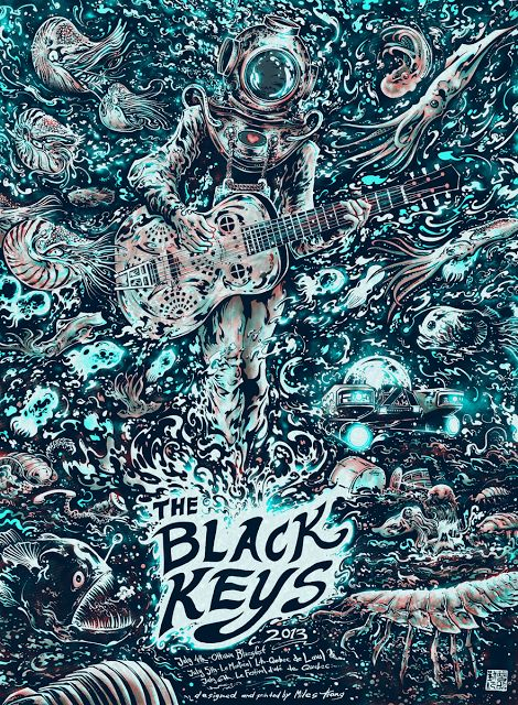 The Black Keys Canada Festival Tour 2013 Poster by Miles Tsang World Premier Exclusive