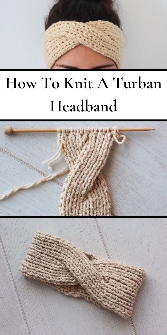 Welcome Springtime By Making This Charming Knitted Cable Headband With