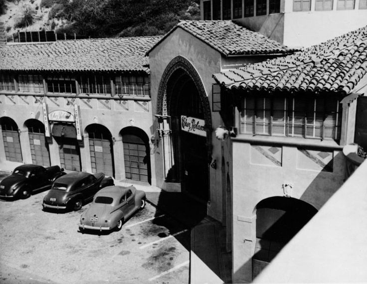 Oct 1949 - Chez Roland Beach Club - In the early 1930s, this structure housed a restaurant on the ground floor called Thelma Todd's Sidewalk Café, owned by actress Thelma Todd and her partner Roland West. The duo also held parties in their private nightclub named Joya's, located on the second story near her personal apartment. At the time Todd owned the building, the hexagonal-shaped, third-floor included a dance floor and bandstand. http://jpg3.lapl.org/pics06/00022902.jpg