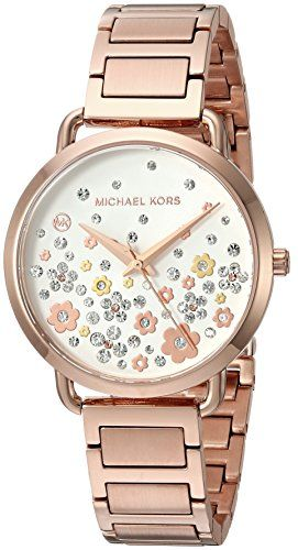f636fda4d8b Michael Kors Watches Womens Portia Rose Gold-Tone Watch--185.72 ...
