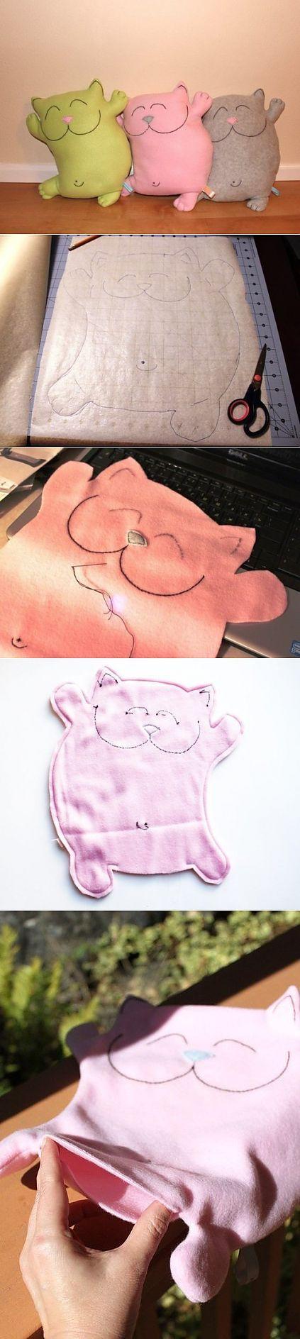 gato almohada con sus propias manos para niños | mi Milady