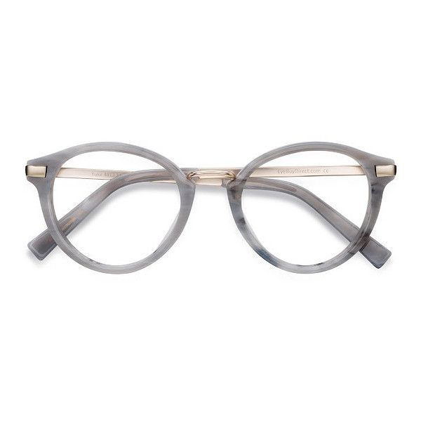 Women's Yuke - Light Gray round metal - 17651 Rx Eyeglasses (200 ILS) ❤ liked on Polyvore featuring accessories, eyewear, eyeglasses, rounded glasses, metal glasses, round eyewear, round eyeglasses and round eye glasses